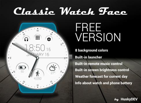 Classic Watch Face Ekran Görüntüsü 1