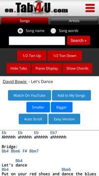en.TAB4U.com - Chords & Lyrics screenshot 1