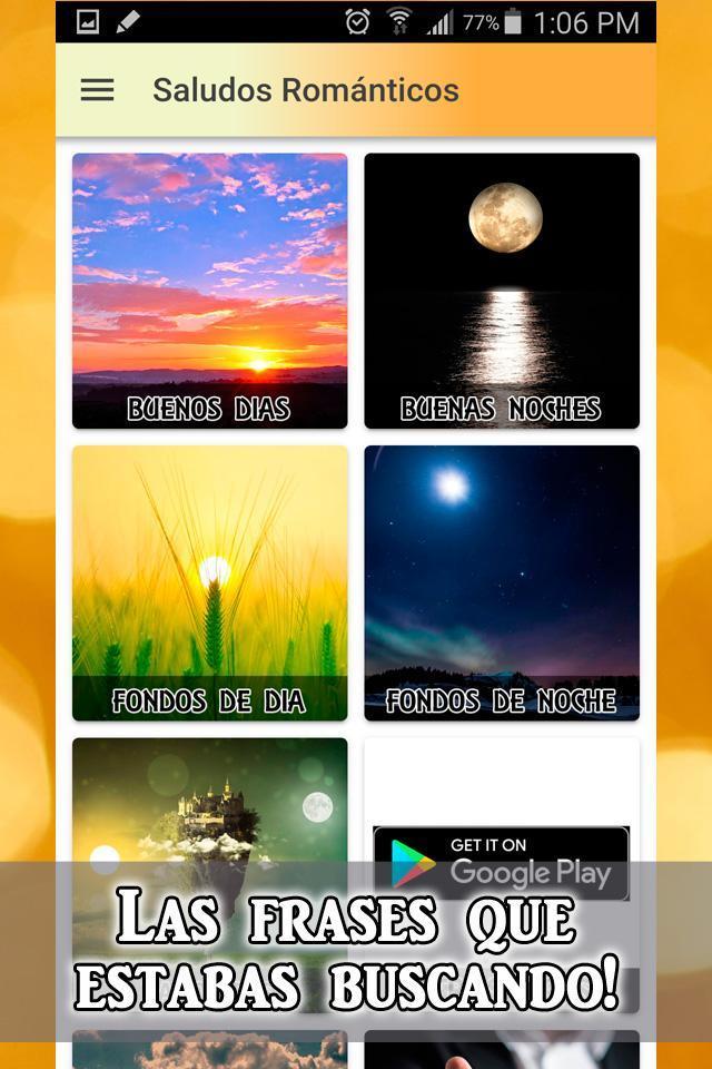 Buenos Días Y Buenas Noches Mi Amor для андроид скачать Apk