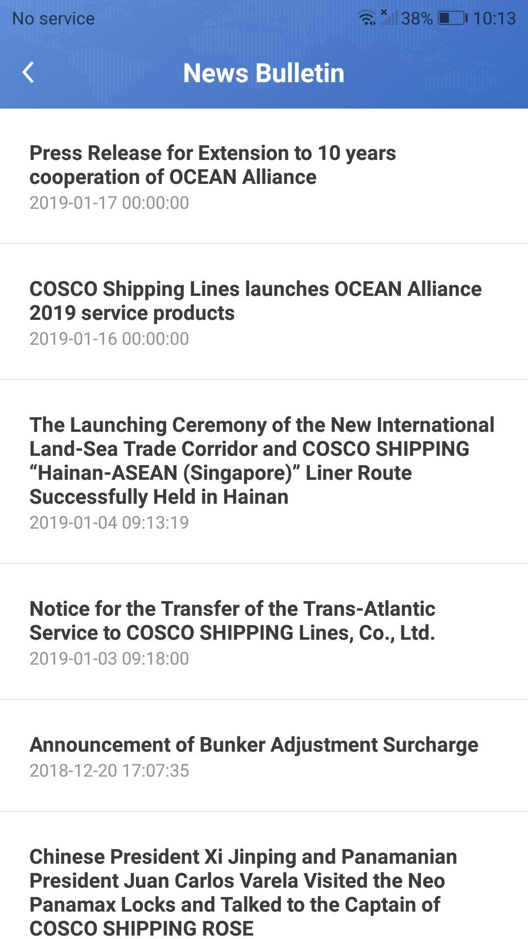 COSCO SHIPPING Lines Mobile App for Android - APK Download