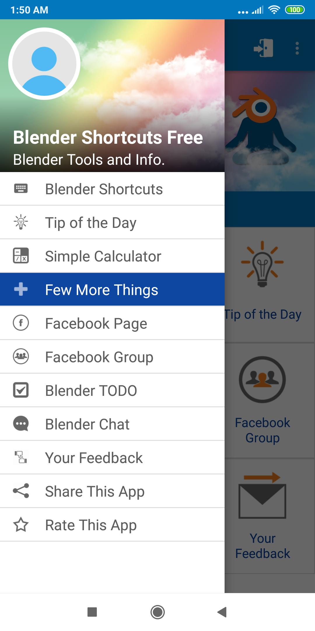 Blender 3D Shortcuts Free for Android - APK Download