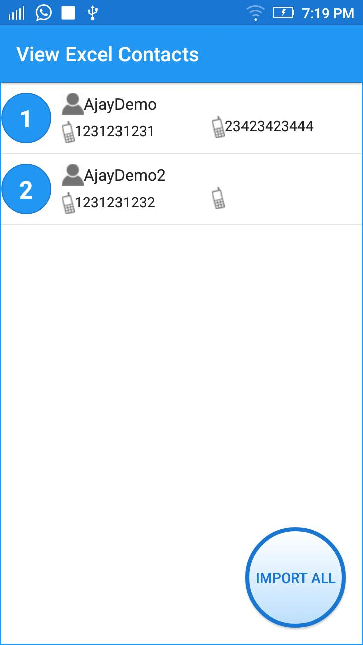 Import Export Contacts Excel for Android - APK Download