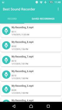 Best Sound Recorder screenshot 1