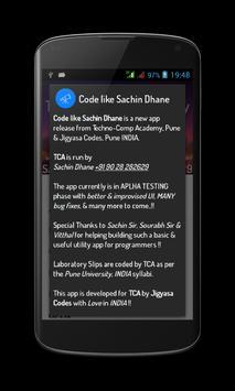 Code like Sachin Dhane UniPune poster