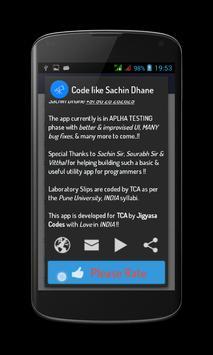 Code like Sachin Dhane UniPune screenshot 1