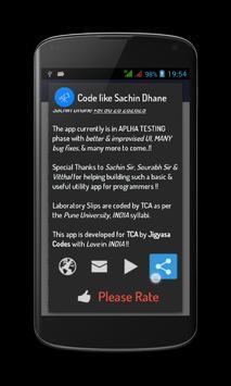 Code like Sachin Dhane UniPune screenshot 2