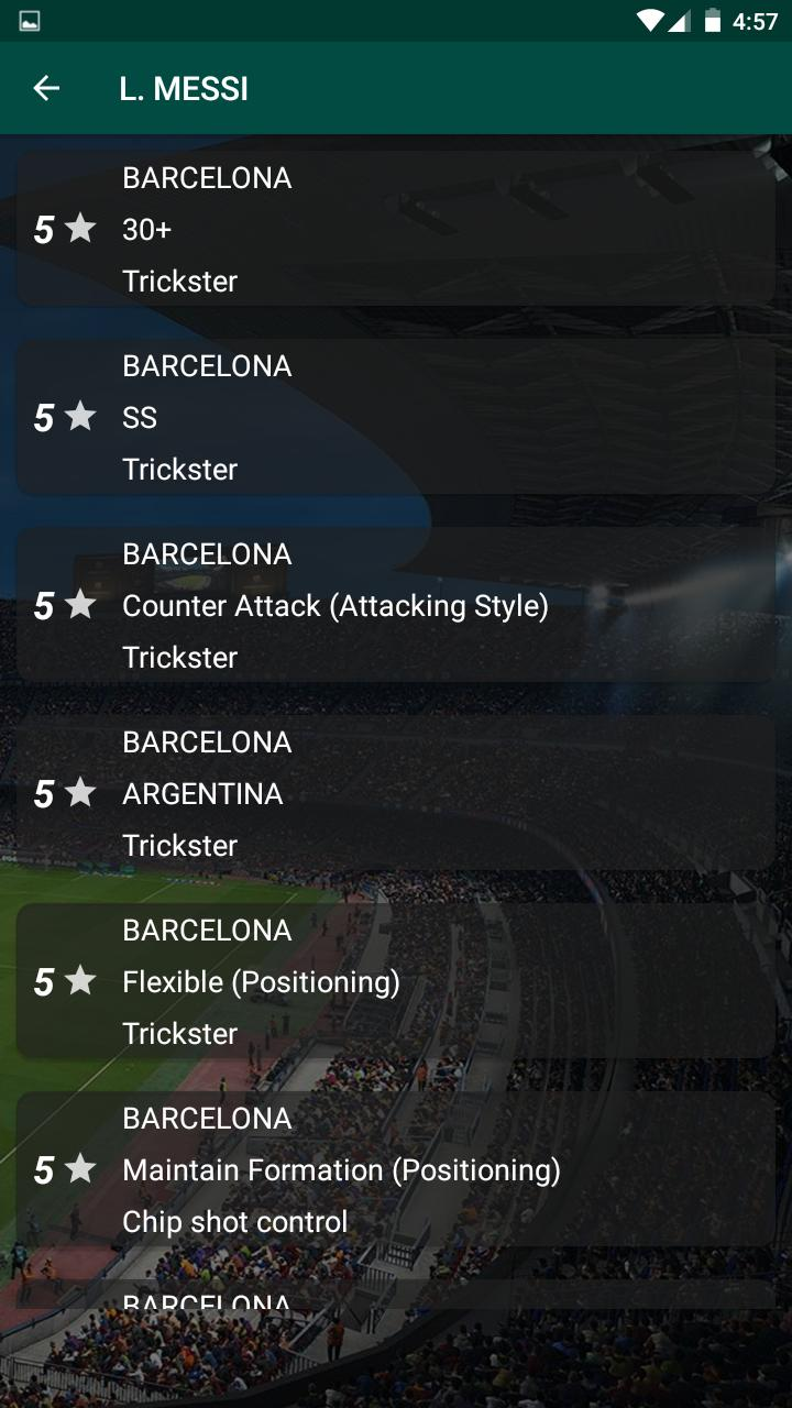 Pes 19 Player Data - Player levels, Player skills for