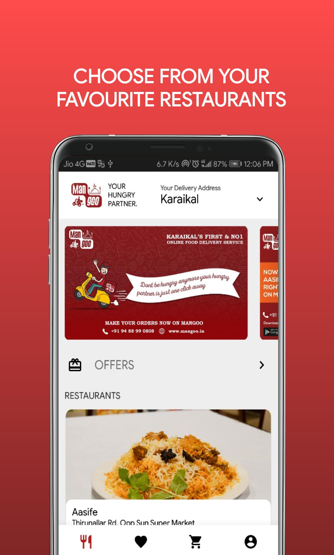 Mangoo Online Food Delivery for Android - APK Download