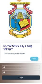 Jayarrajesh Matric Hr Sec School poster