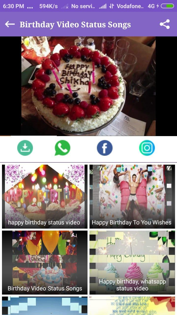 Happy Birthday Status Video Song Hindi For Android Apk
