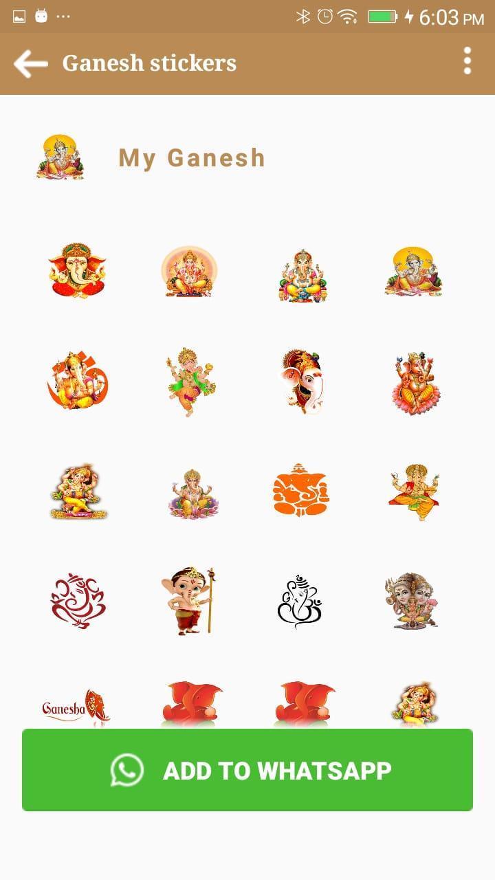 Jai Shri Ganesh Stickers For Whatsapp APP 2019 for Android - APK