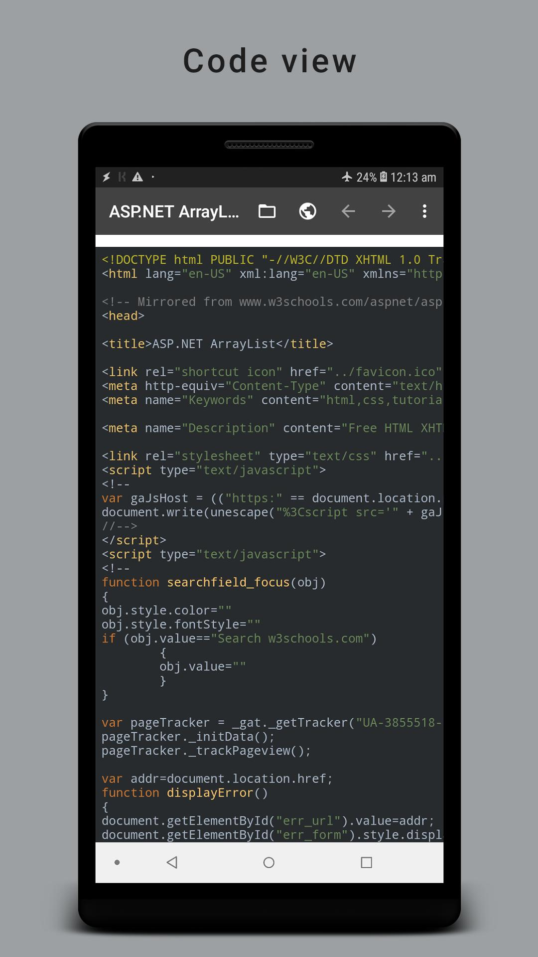 HTML Reader/ Viewer for Android - APK Download