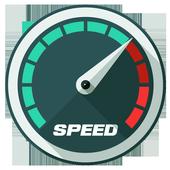 internet speed meter test:ping test & speed meter icon