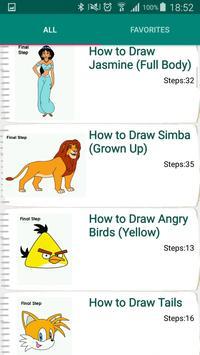 Drawing Lessons Cartoon Characters screenshot 1