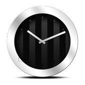 Icona Silver Black Clock Widget