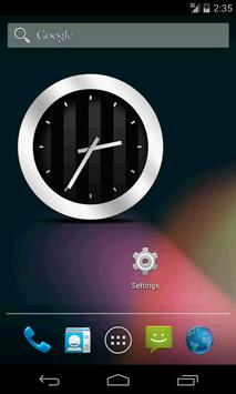 Silver Black Clock Widget Poster