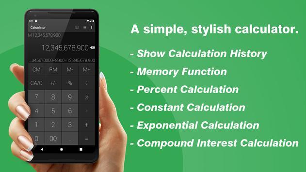 Une calculatrice simple&jolie Affiche