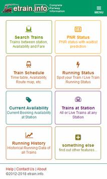 Indian Railways @etrain.info poster