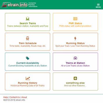 Indian Railways @etrain.info screenshot 16