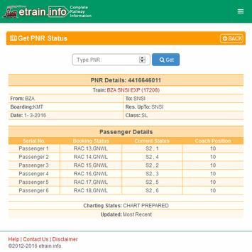 Indian Railways @etrain.info screenshot 18
