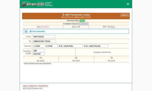 Indian Railways @etrain.info screenshot 11