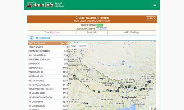 Indian Railways @etrain.info screenshot 12