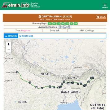 Indian Railways @etrain.info screenshot 21