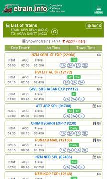 Indian Railways @etrain.info screenshot 2
