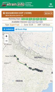 Indian Railways @etrain.info screenshot 5