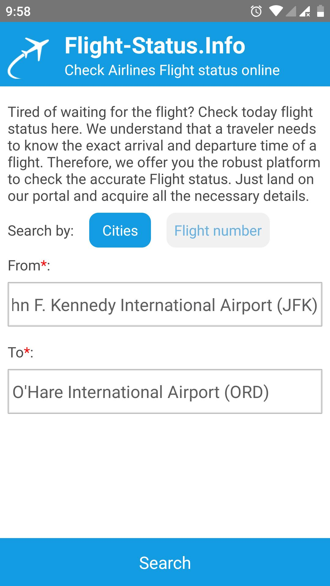 Flight Status for Android - APK Download