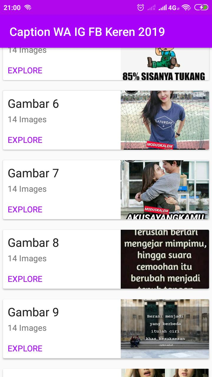 Caption Wa Ig Fb Keren 2019 For Android Apk Download