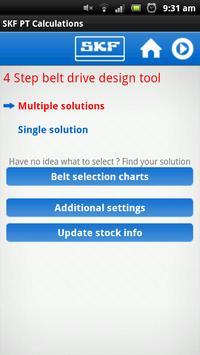 SKF Belt Calc Screenshot 2