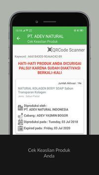 Cek Keaslian Produk PT. ADEV NATURAL INDONESIA screenshot 3