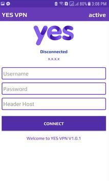 YES VPN screenshot 1