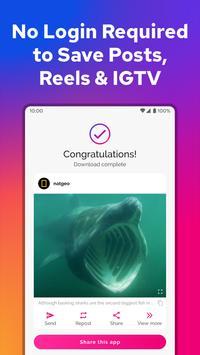 Downloader for Instagram скриншот 1