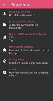 HD Video Downloader for Facebook screenshot 3
