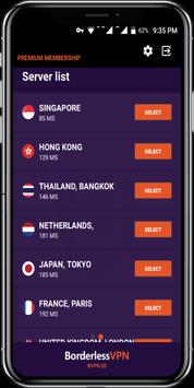 Borderless VPN - Ultimate security screenshot 1