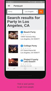 Partylyst screenshot 1