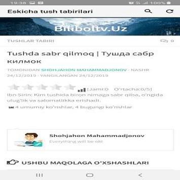 Eskicha tush tabirlari screenshot 4
