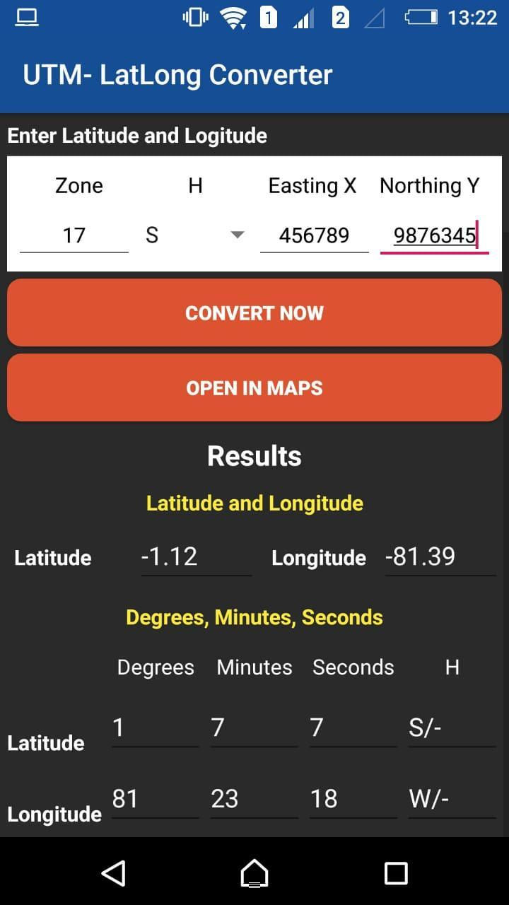 UTM - Lat/Long Conversor for Android - APK Download