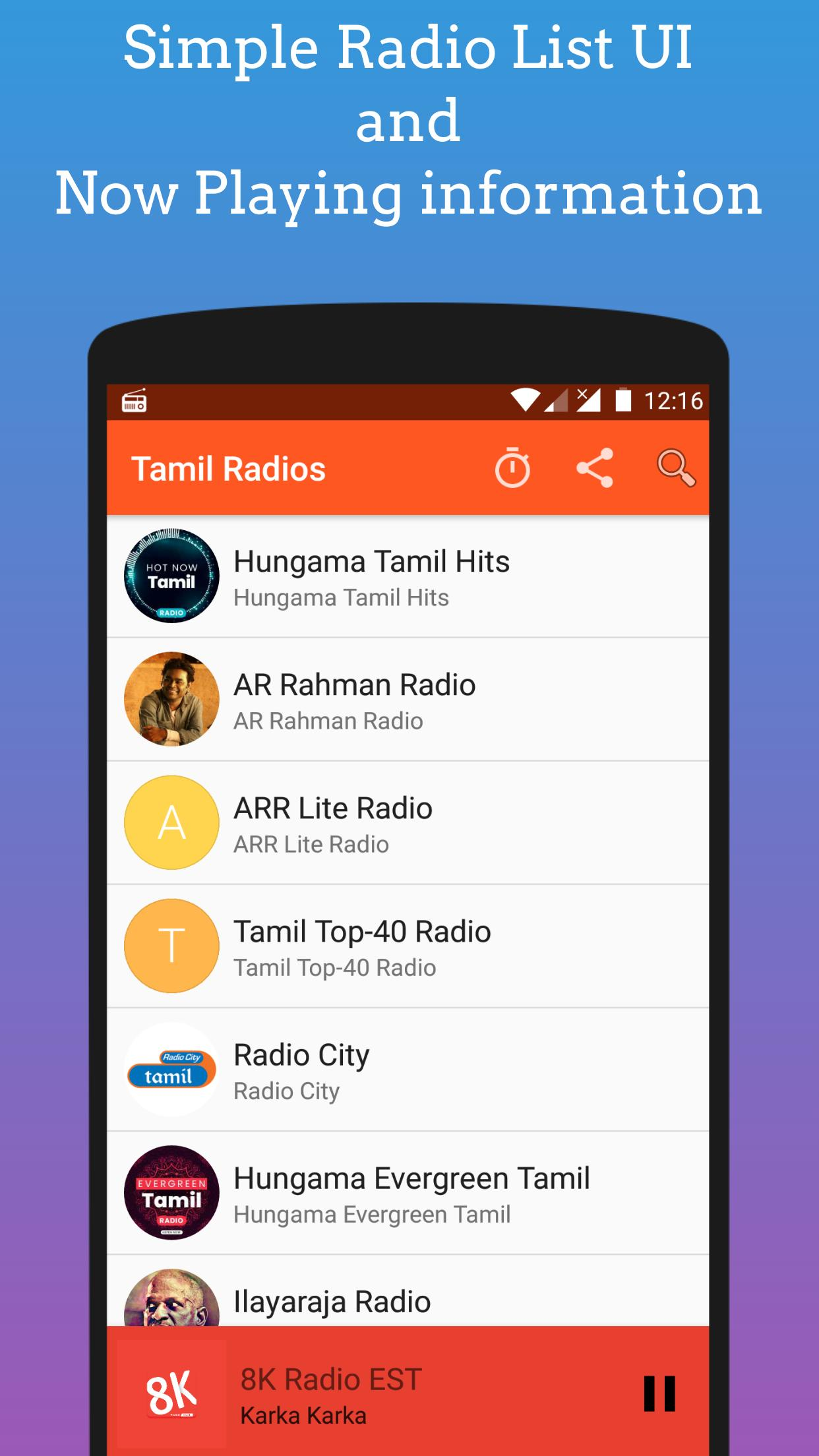 Tamil FM Radio - Listen Online Tamil Songs in FM for Android