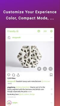 Friendly for Instagram imagem de tela 6