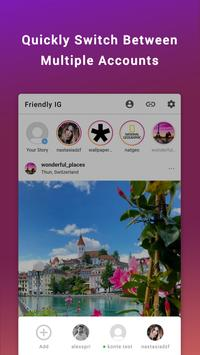 Friendly for Instagram imagem de tela 2