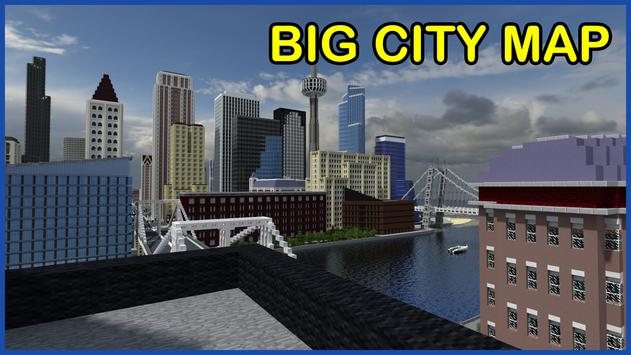 Big City Maps for Minecraft PE poster