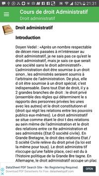 Droit Administratif screenshot 1