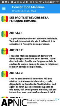Constitution du Mali screenshot 1