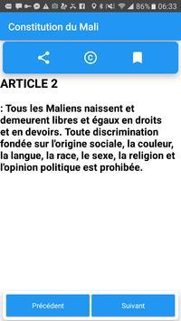 Constitution du Mali screenshot 2
