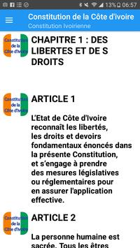 Constitution Ivoirienne screenshot 1