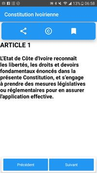 Constitution Ivoirienne screenshot 2