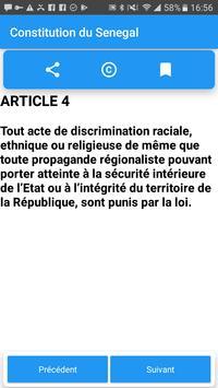 Constitution du Sénégal screenshot 1